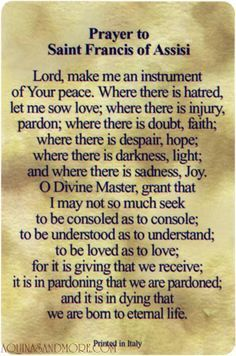 graphic regarding St Francis Prayer Printable named printable prayer of st francis of isi - Google Appear
