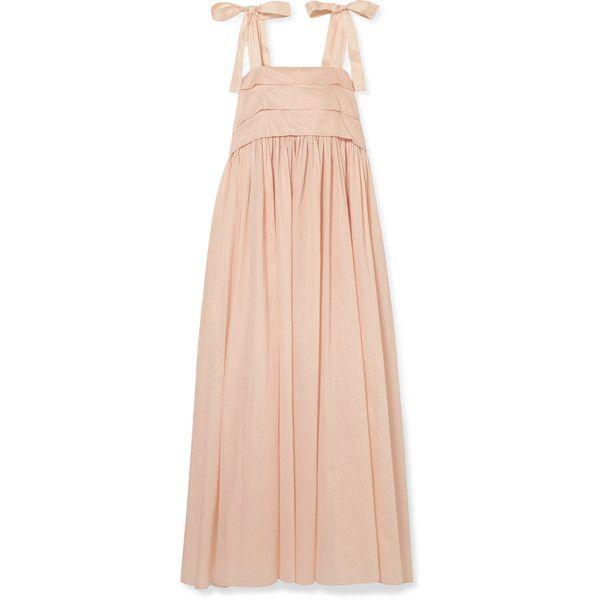 Hortense Silk-trimmed Cotton-voile Maxi Dress - Blush Three Graces London DWt484BdS