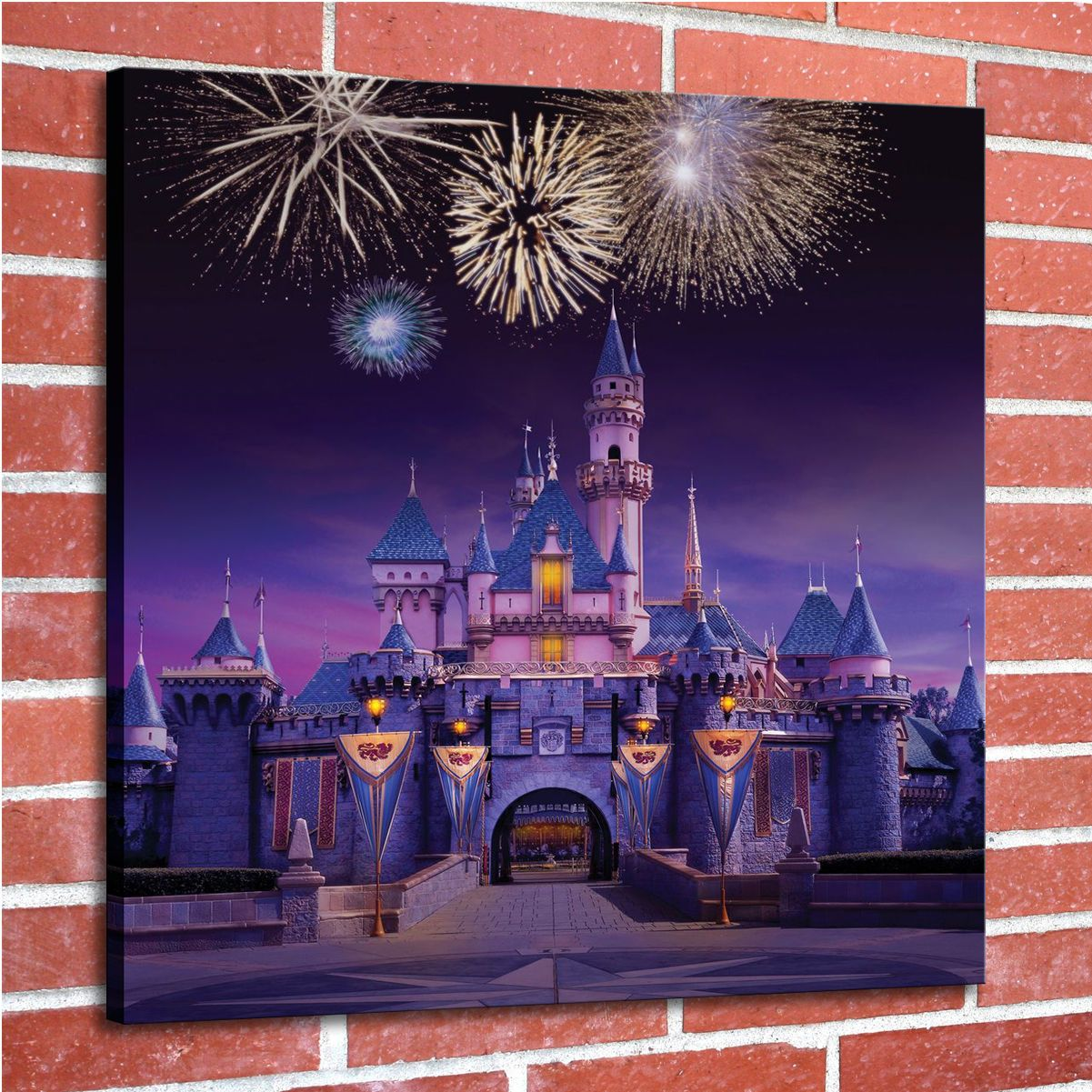 Hd Painting Picture Print On Canvas Wall Art Disney Castle Unframed Poster Photo Ebay Home Ga Disney World Florida Resident Disney World Florida Disneyland