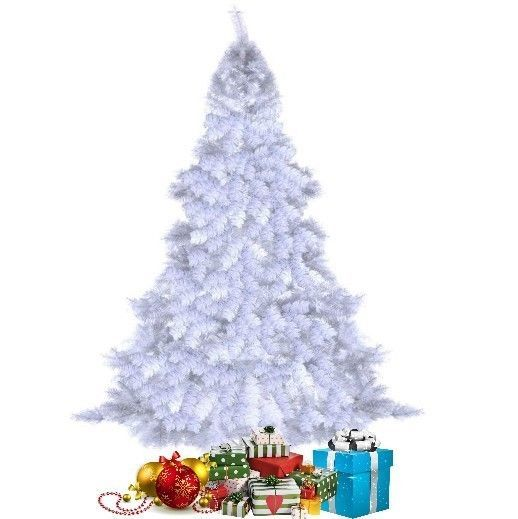 White #Christmas Tree 8 Foot with Stand Artificial #Holiday Decor