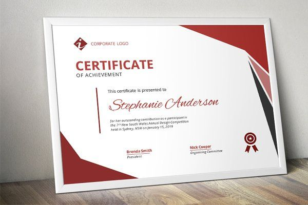 Modern Ms Word Certificate Design By Inkpower On