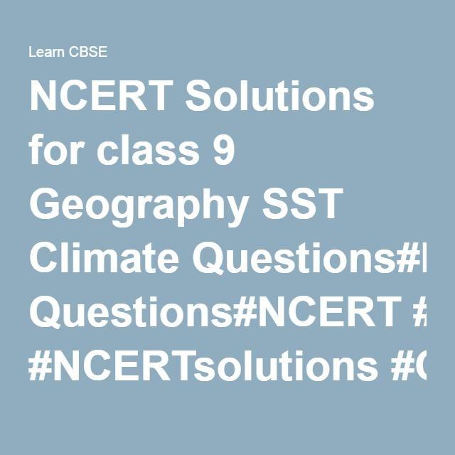 ncert solution of sst class 9