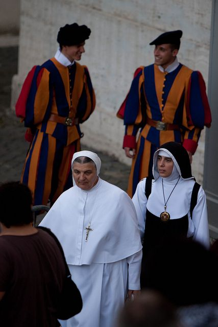 Swiss Guards and Nuns | Flickr - Photo Sharing!