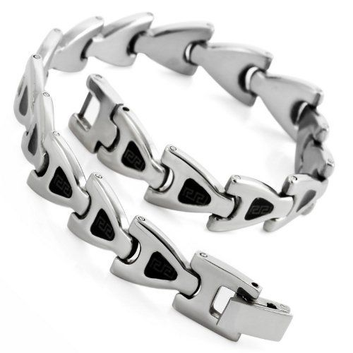 Justeel Jewelry Mens Black Silver Stainless Steel Alphabet a Bracelet Link Bangle Justeel Jewelry. $4.99. Size HxWxL: x0.4x8.1inch; (x11x205mm). Shipping takes 2-3 weeks from China (USPS Tracking). Excellent Luster and Unimpeachable Rust and Corruption Resistance. 100% Nickel free. Save 75%!