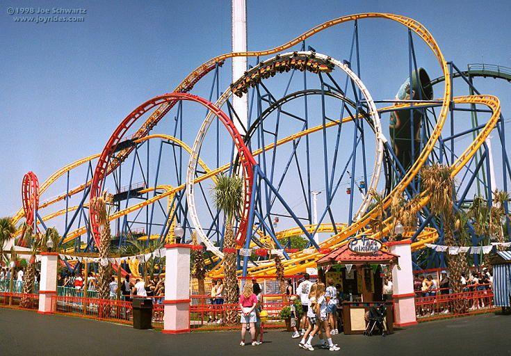 Texas Tornado roller coaster at Six Flags AstroWorld