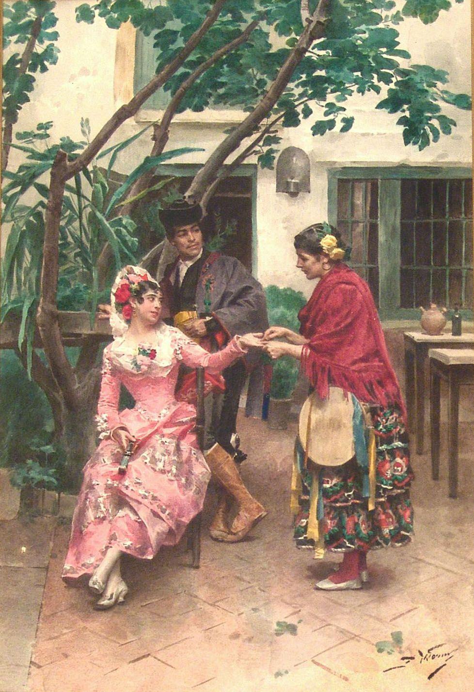 JULES WORMS Escuela Francesa 1832 1914 EL DESTINO EN LA MANO