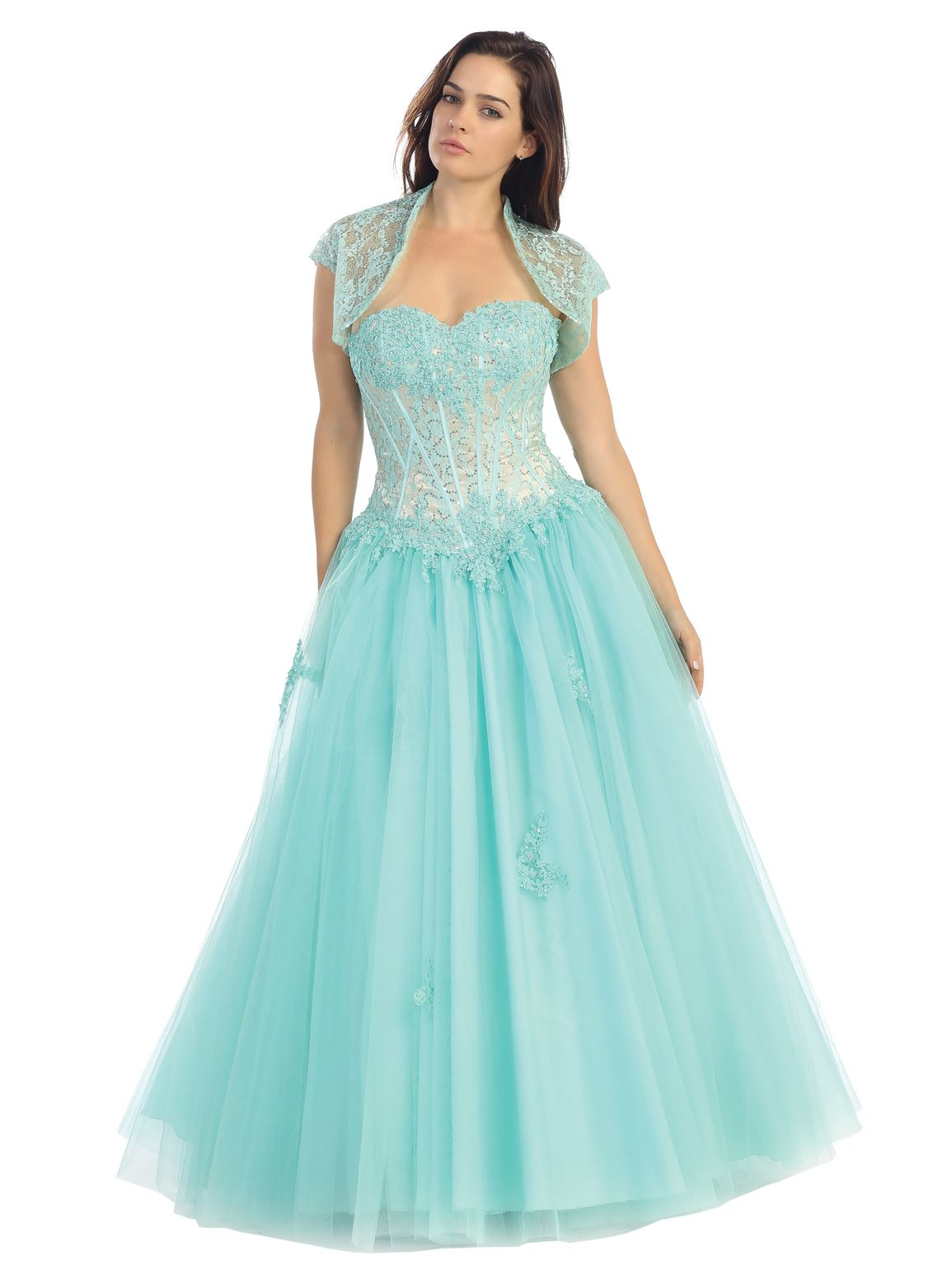 Timeless and Elegant Evening Ball Gown with Bolero | Dresses ...