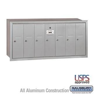 Salsbury 4b Vertical Mailbox 7 Doors Recessed Mounted Usps Access In 2020 Locker Storage Apartment Mailboxes Plastic Lockers