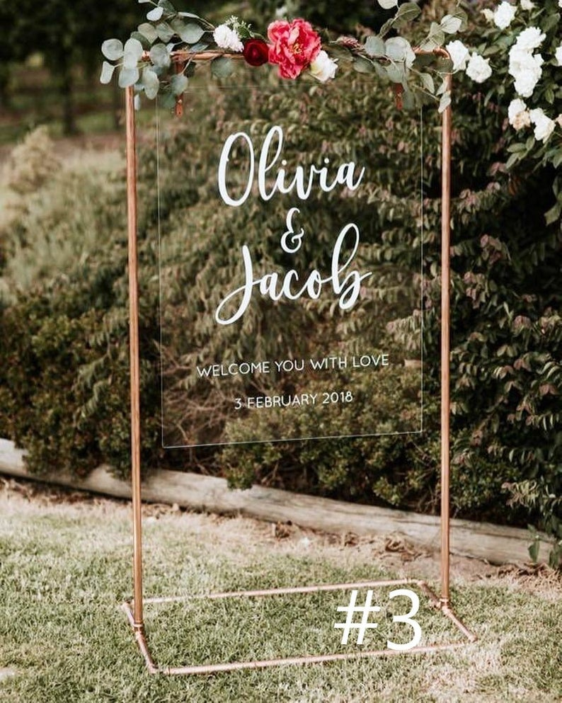 Custom Copper Wedding Welcome Stand Etsy Wedding Welcome Signs Wedding Signs Copper Wedding