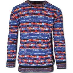 Photo of Mehrfarbiger Pullover mit Jacquardmuster, blau-orange Carlo Colucci