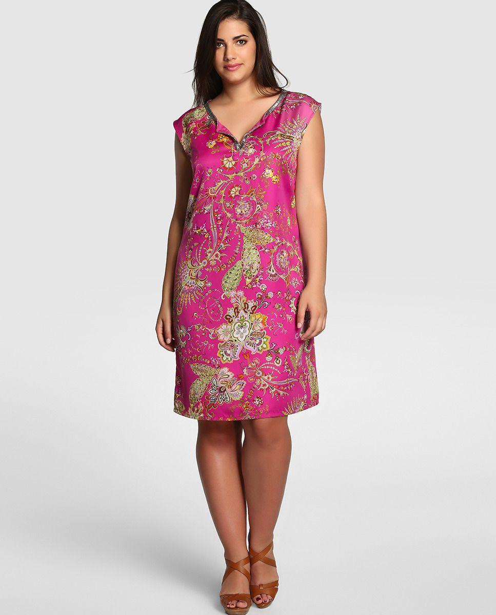 Vestido corto de tallas grandes | vestidos para fofinhas | Pinterest ...