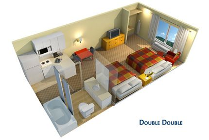 View extended stay america amenities and photos floor plan for extended stay pinterest for Extended stay america one bedroom suite