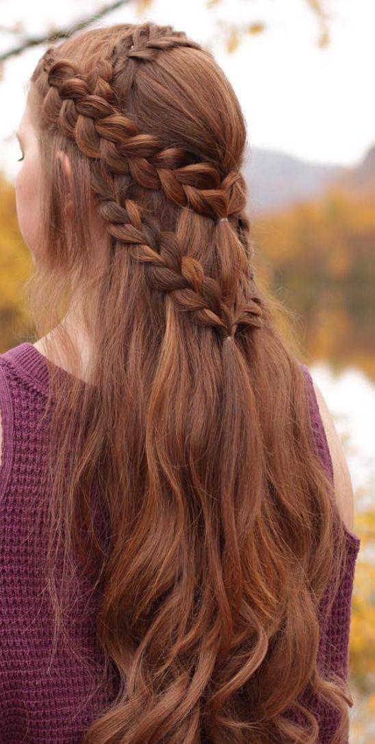 Pretty Hairstyle Pretty Hairstyle Hairstyle Pretty In 2020 Mittelalterliche Frisuren Langhaarfrisuren Geflochtene Frisuren
