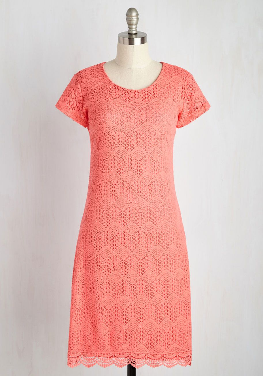 Smitten with you dress in coral you draw a chorus of uohhsu and