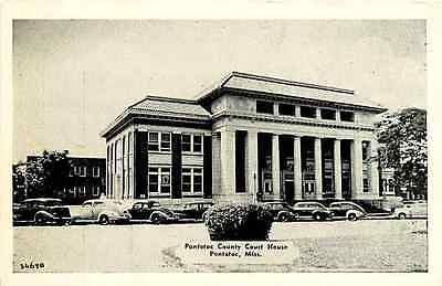 Pontotoc Mississippi Ms 1940s Pontotoc County Court House Vintage