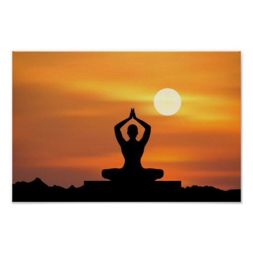 Yoga Meditation Poster Zazzle Com Yoga Artwork Yoga Art Poster Prints