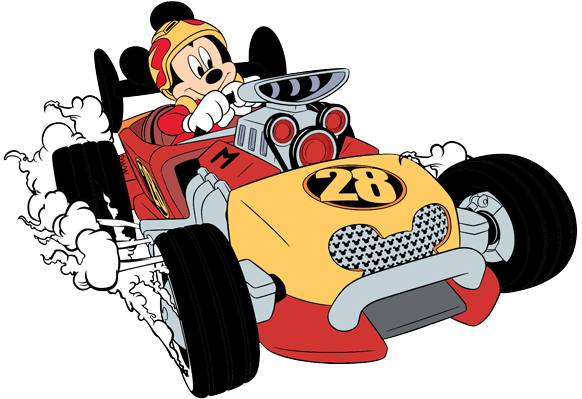 Roadster Racer Mickey Putting The Pedal To The Metal Disney
