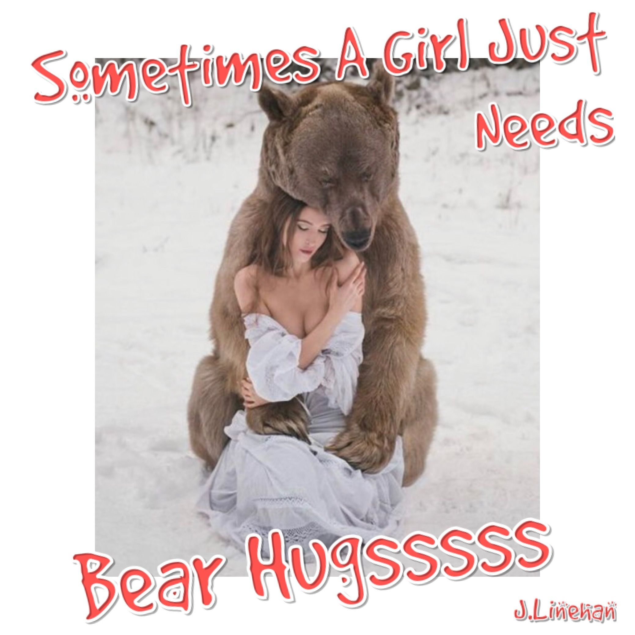 Sometimes A Girl Just Needs A Bear Hug #Poetry #Poets