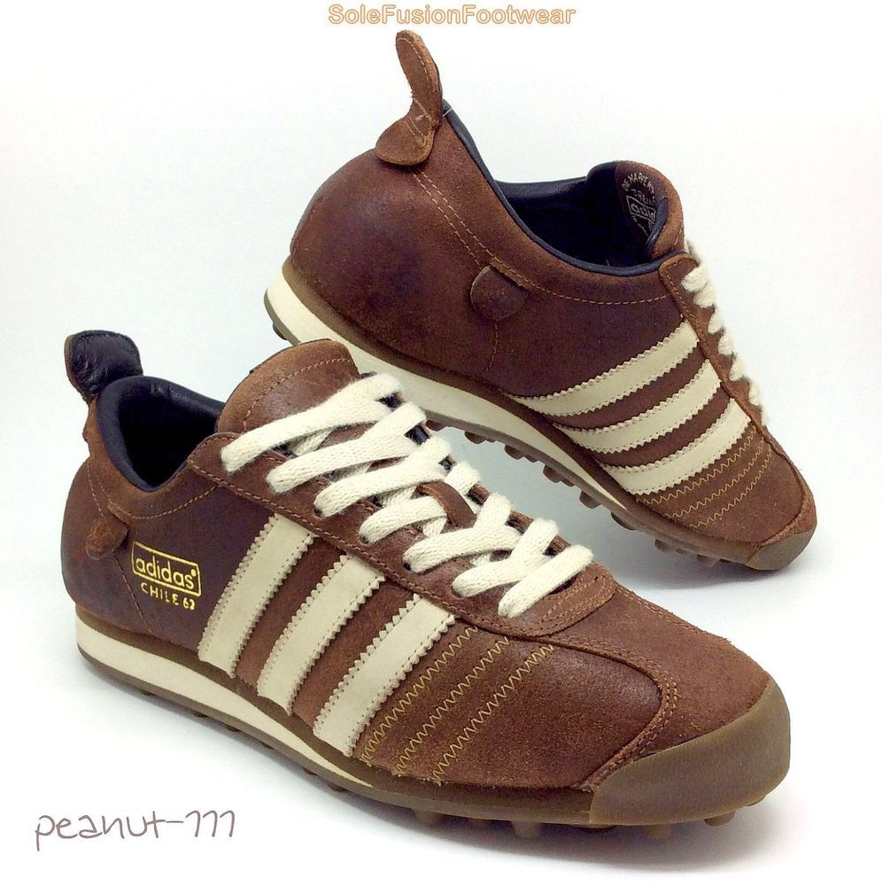 adidas Chile 62 Brown Trainers size 6 Mens/Womens VTG Leather Sneaker 6.5  39 1/3