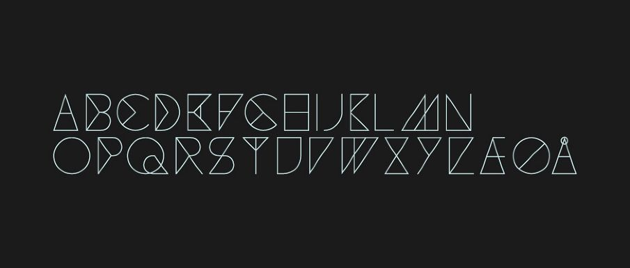 Geometric alphabet for the Madrid—based culture magazine Neo2.