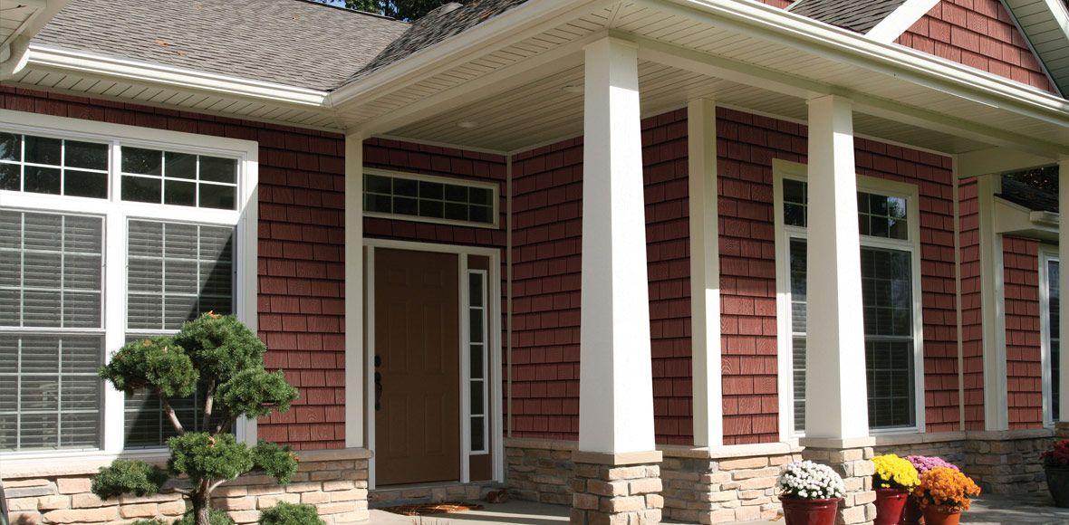 Best Grayne Hardboard Cedar Shingle Panels House In 2019 400 x 300