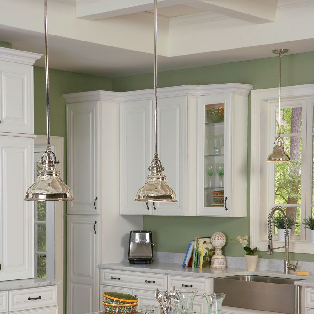 Kitchen Pendants   The Elstead Emery Mini Pendant Is A Stylish Light  Fitting Featuring Industrial Detailing
