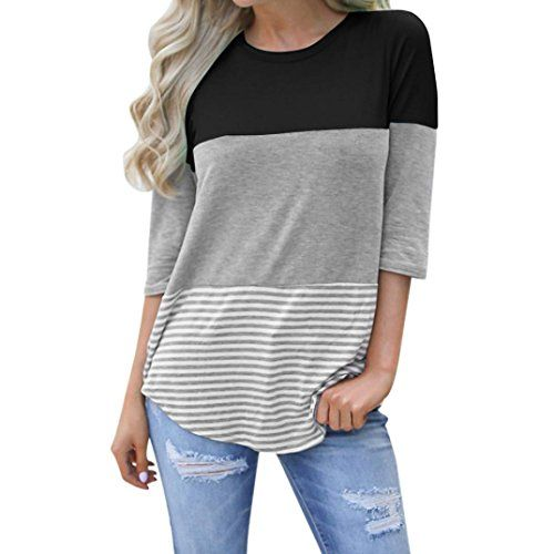 c03d72fdca vermers Clearance Sale ! Women T-Shirt Fashion Polka-Dot Bell Blouse Flare  Sleeve Tops (M, y-Black)