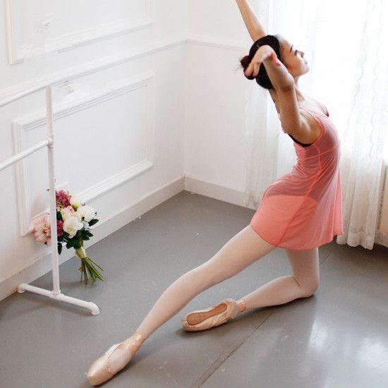 Chic adulte ballet de danse professionnel concurrence performance pratique gymnastique  justaucorps rose corps jupe Siamois jupe b4ea7c1e12a5