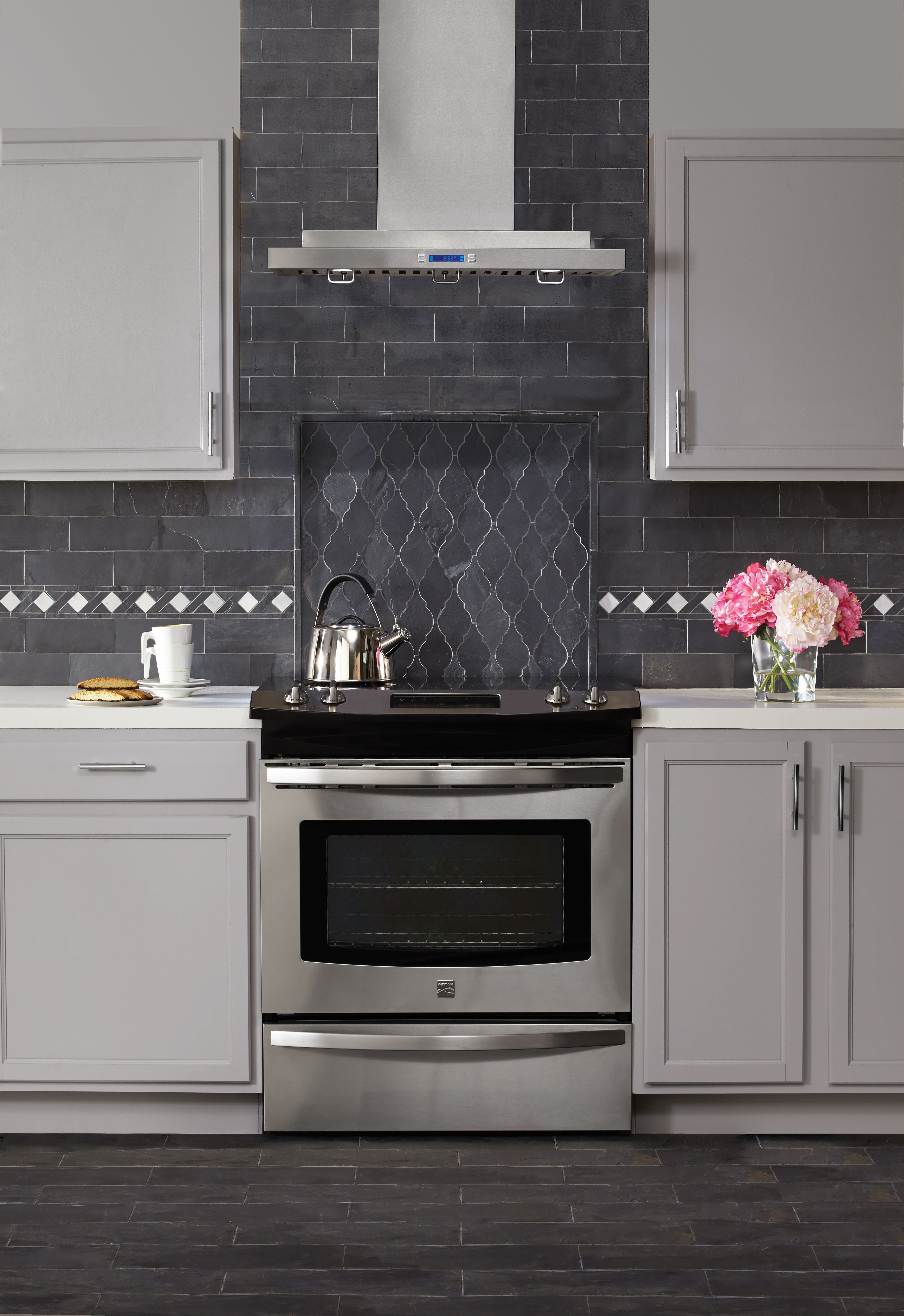 noble black slate tile offers a modern twist on a timeless