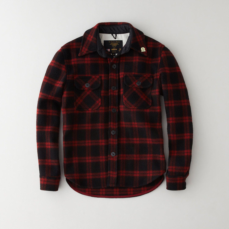 Fidelity sportswear wool usn cpo jacket men 39 s outerwear for Fidelity cpo shirt jacket