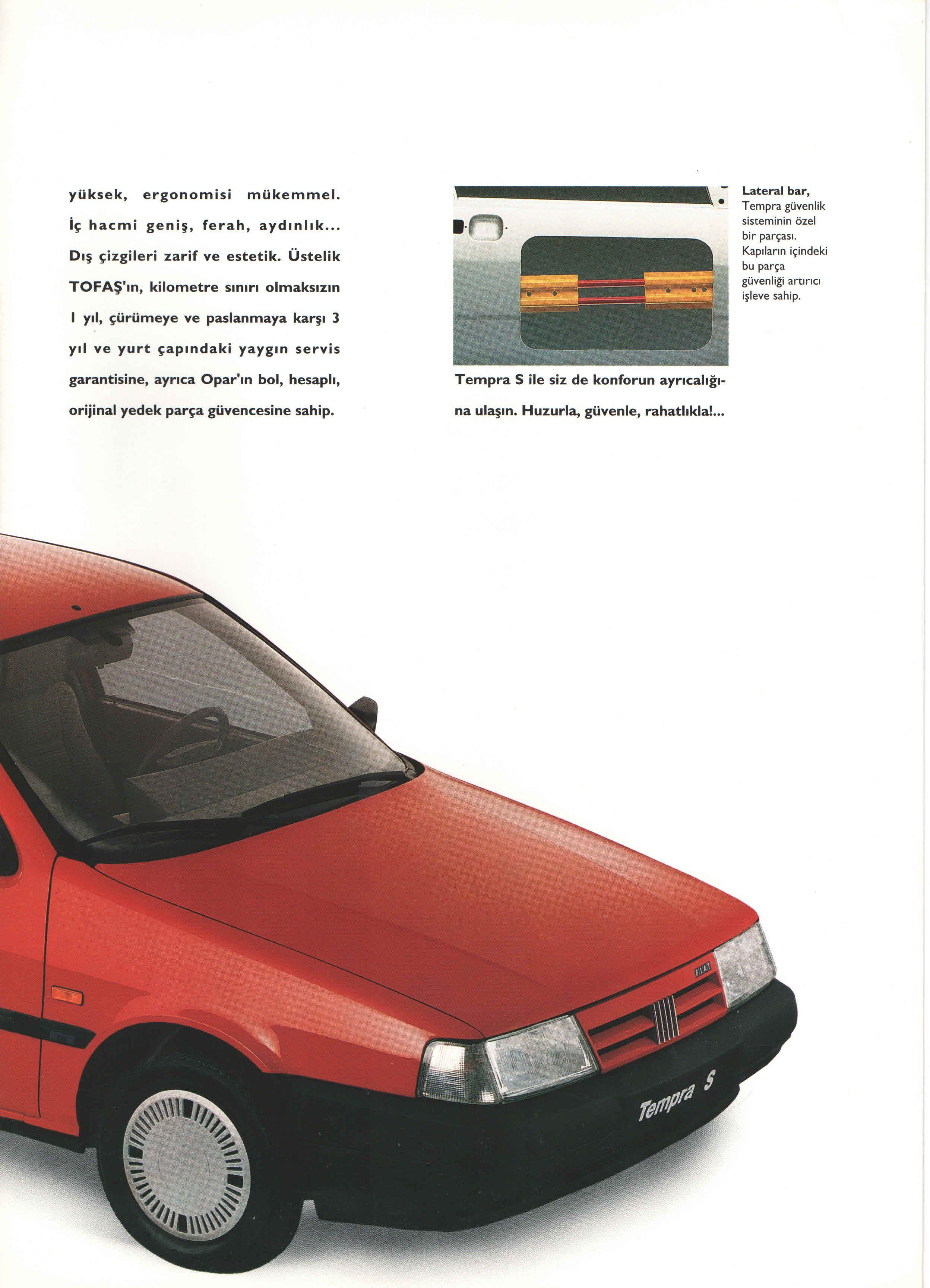 1993 fiat tempra s turkish catalog page 3/4 - 1993 fiat tempra s