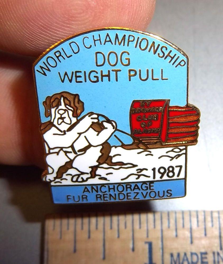 Anchorage Alaska Fur Rondy 1992 Sled Dog Race Tie Tac Lapel Pin