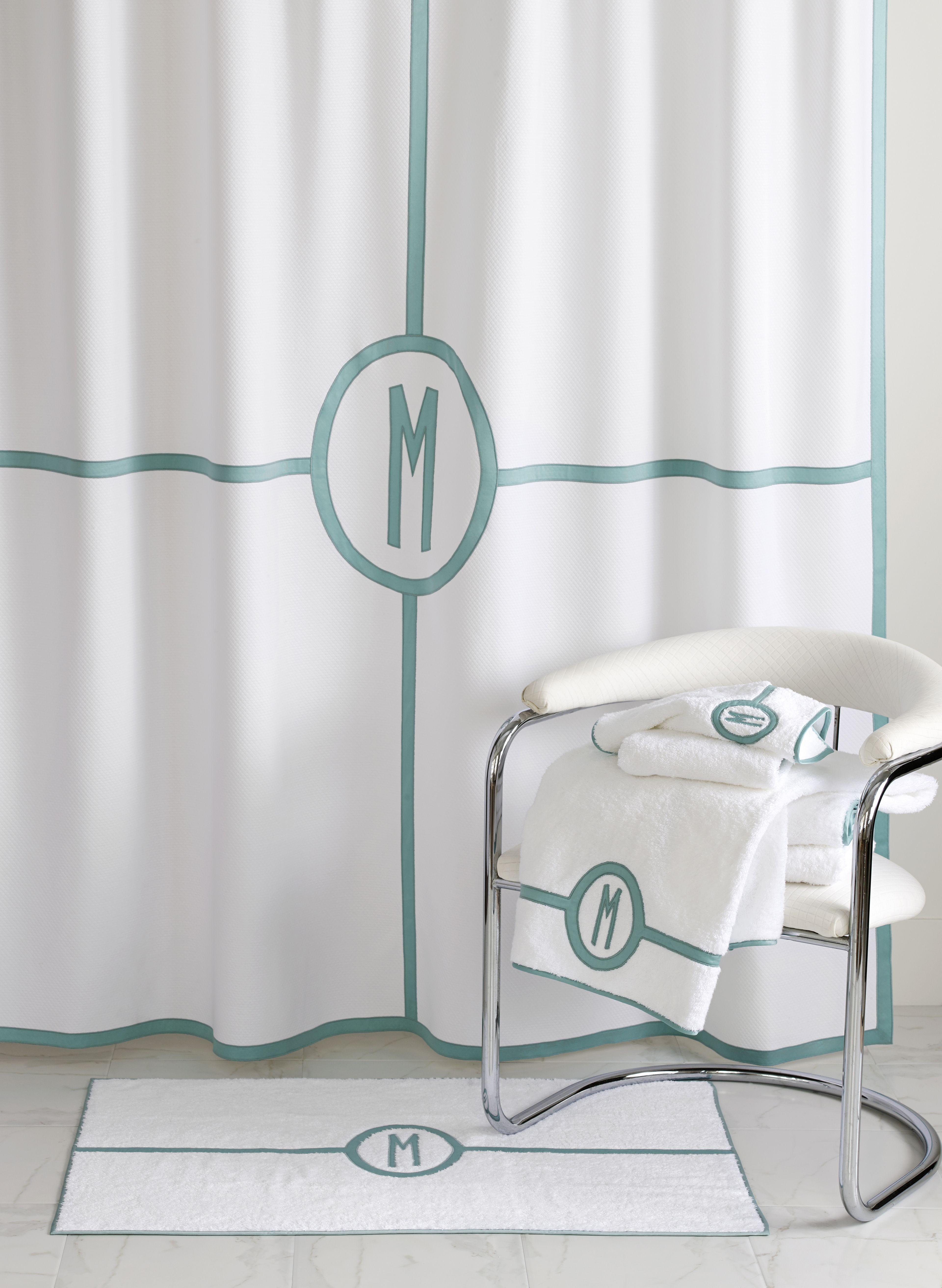 Matouk Parterre Bath #bathmat #showercurtain #LuxuryLinens ...