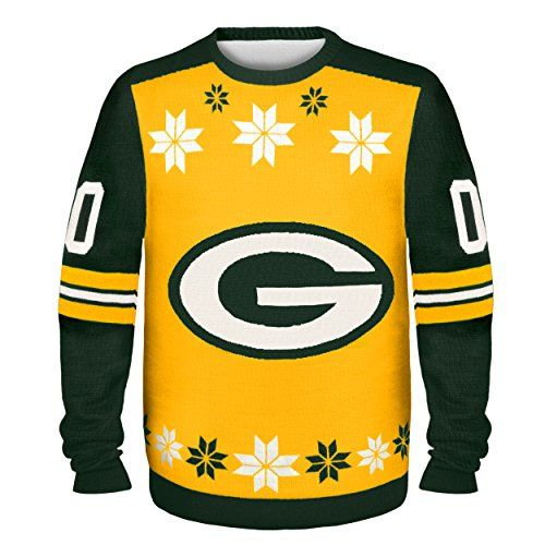 Nfl Green Bay Packers Almost Right But Ugly Sweater Xlarge Yellow