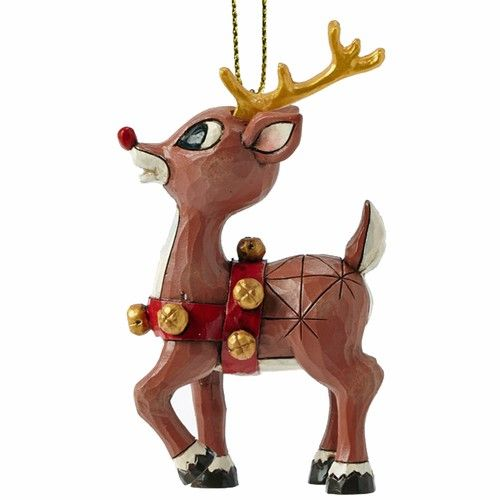 Rudolph Harness ready to lead Santas Sleigh Ornament by Jim S ...