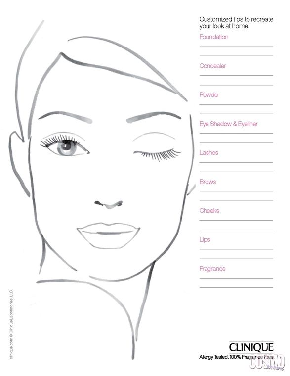Pin by Gigi Remond Make Up Artist on Make Up Face Charts