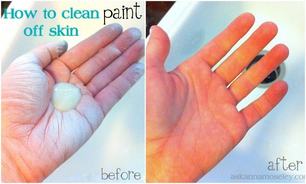 Cleaning Paint Off Skin Cleaning Cleaning Hacks Natural