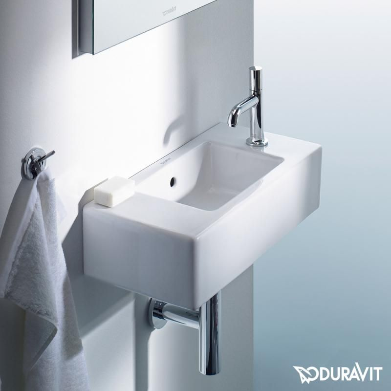 Duravit Vero Hand Washbasin White With 1 Tap Hole On The Right Duravit Wash Basin Bathroom Furniture