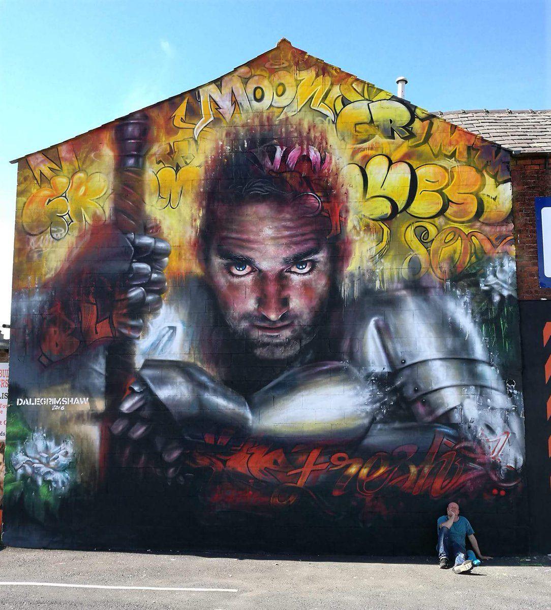 Dale grimshaw streetart sand sea spray blackpool uk ♥♥♥