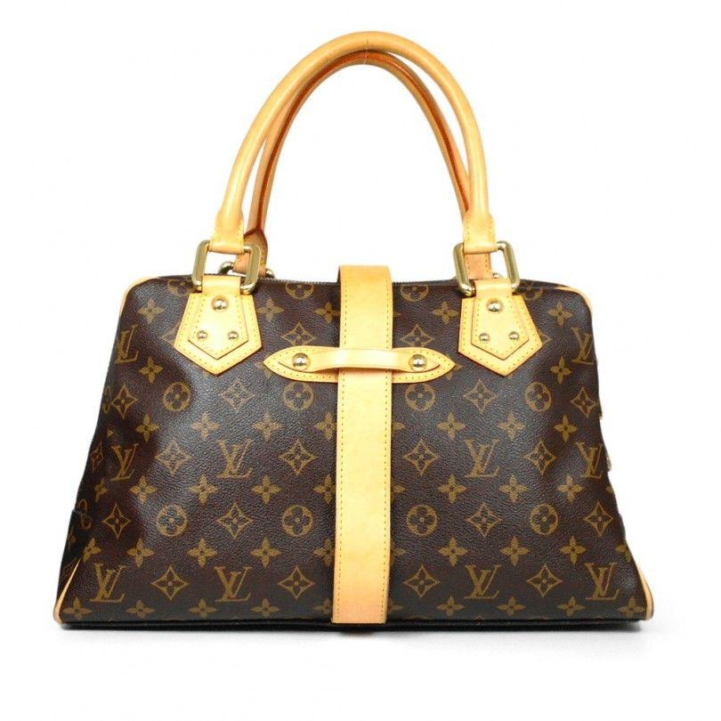 Louis Vuitton Handbags | AUTHENTIC LOUIS VUITTON MONO MANHATTAN GM SATCHEL BAG