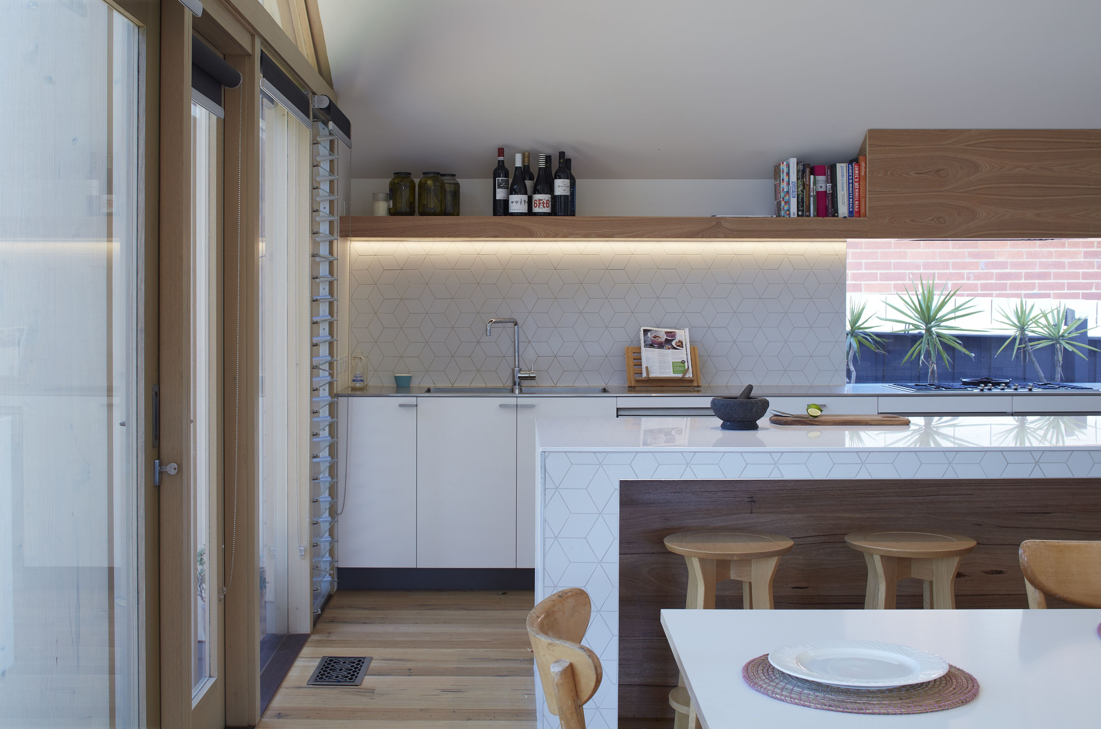 The Extension Created An Open Kitchen As Well Additional Interior E For Dining And Living