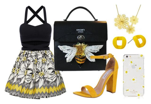 """Bee"" by didiiidia ❤ liked on Polyvore featuring Alice + Olivia, Steve Madden, Arabel Lebrusan, Marc by Marc Jacobs and Kate Spade"