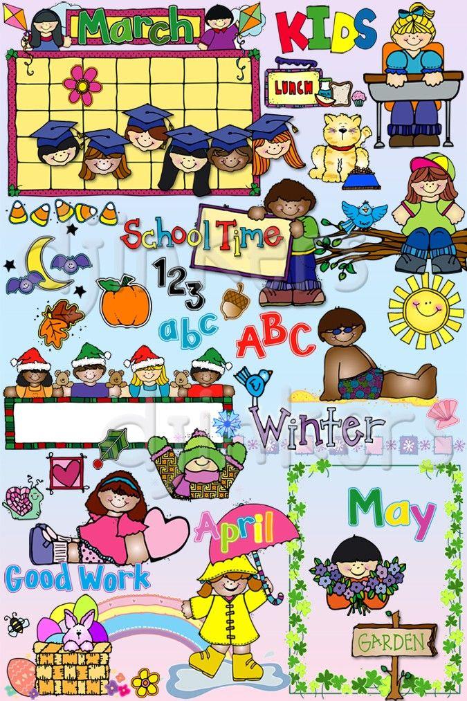 Calendar school. Kids all year clipart