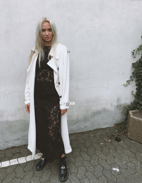 c827f7e1 Ganni street style | Emilie Lilja | Duval Lace Maxi Dress | Mystyle ...