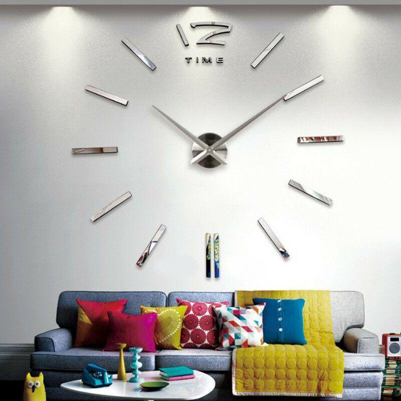 #modern #wall #clock #diy #large #number #sticker #living #room #home #decor #mirror #art #design