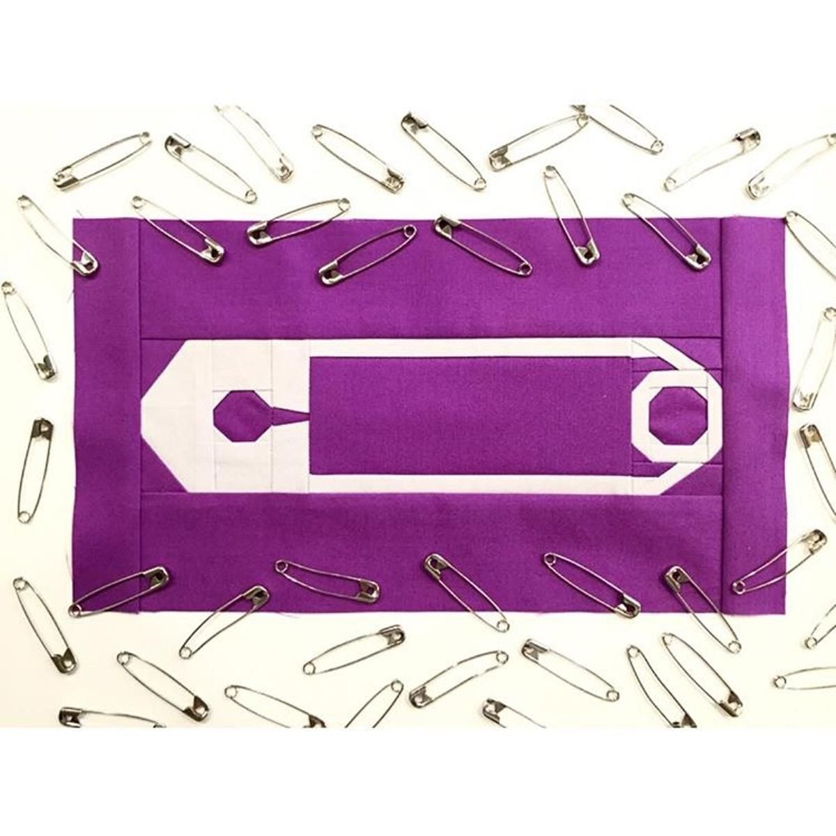 Safe With Me - Safety Pin Foundation Pieced Block | Craftsy | It's ... : safety pins for quilting - Adamdwight.com