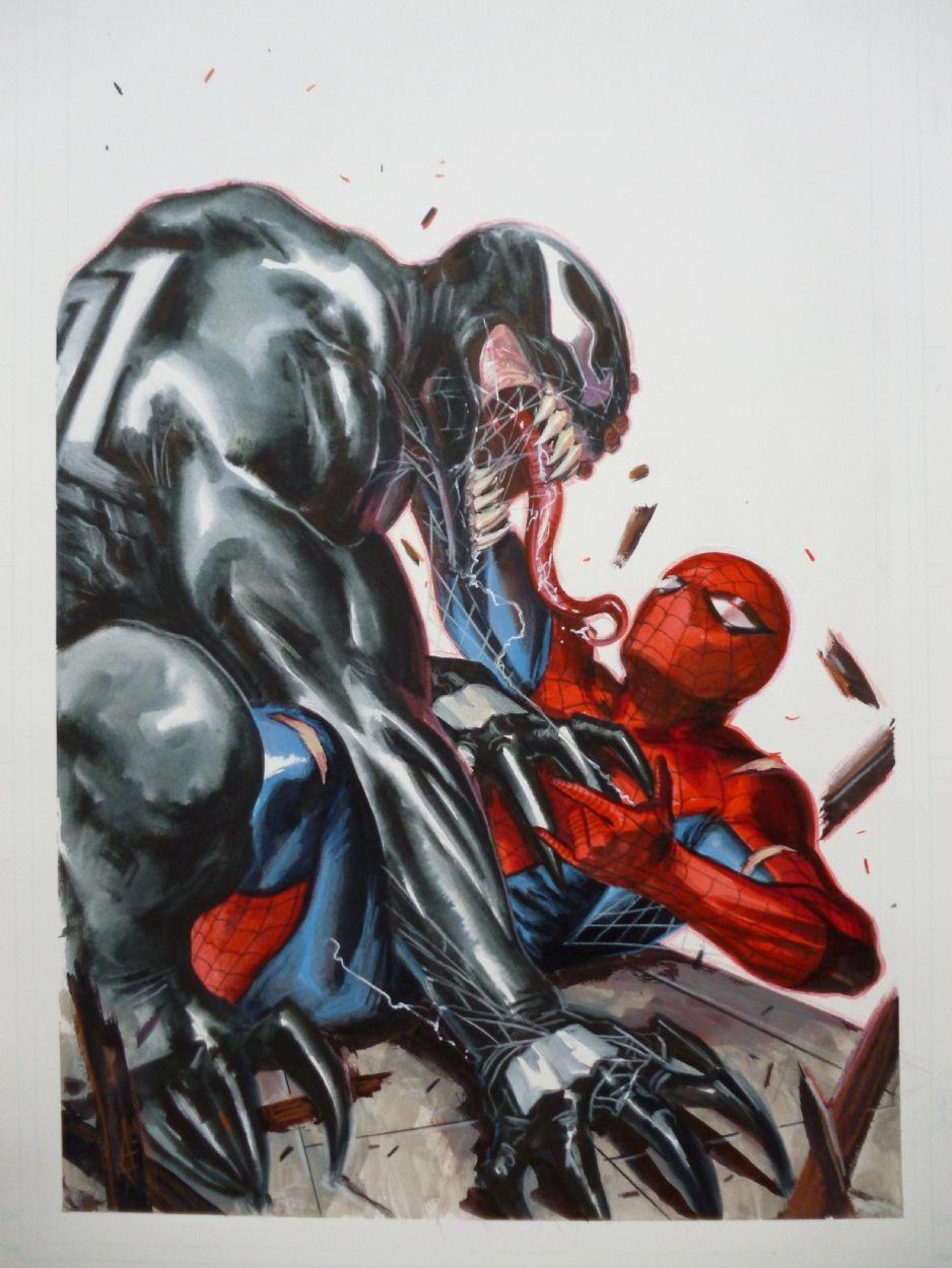 Spiderman Vs Venom by Gabriele Dell'Otto Comic Art