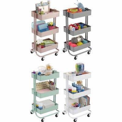 Lexington carts cart storage ideas ikea raskog cart storage cart art studio room - Table a roulettes ikea ...