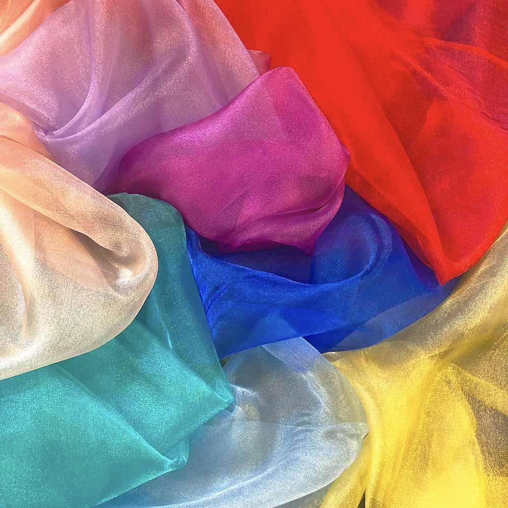 Chinese Crystal Organza Fabric Material