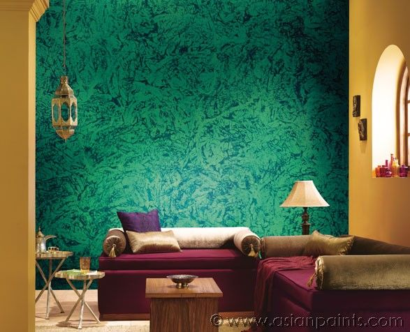 Asian Paint Wall Texture Designs For Living Room Interior Design Image Chutney Green Textured Walls Add That Desi Touch Go All Out On Rich Wooden Furniture And Upholsteries To Get This Look